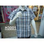 H3001 เสื้อเชิ๊ตสก้อตแขนสั้น ผู้ชาย