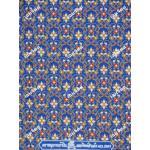 ผ้าลายไทย no.2041 สีฟ้า
