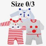 ชุดเด็กอ่อน mon OURS สัตว์ babies Size 0/3