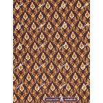 ผ้าลายไทย no.0041 สีเปลือกมังคุด
