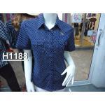 ( H1188) เสื้อเชิ้ตหญิงแขนสั้น