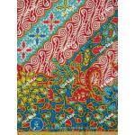 ผ้าถุงแม่พลอย mp0098 ฟ้า-แดง