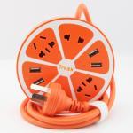 ปลั๊กไฟ Trozk 4 Power Socket 4 USB สีส้ม