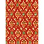 ผ้าลายไทย no.0082 สีแดง