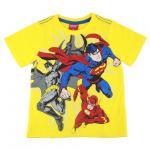 เสื้อยืดเด็ก jUSTICE LEAGUE สีเหลือง - Size 8