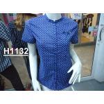 H 1132 เสื้อคอจีนผู้หญิง cotton100%