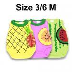 ชุด เด็กอ่อน mon OURS ผลไม้ เซ็ท 3 ตัว Size 3/6 M