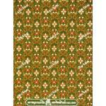 ผ้าลายไทย no.2041 สีเขียวตอง