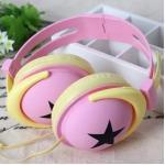 หูฟัง DiiD Headphone รุ่น IX-7 - สีชมพู-เหลือง