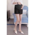 กางเกงกระโปรงขาสั้นคนท้อง SP1708 สีดำ : Size 2XL