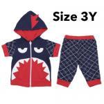 ชุด เสื้อกางเกง เด็ก Baby Town ฉลาม (Size 3Y) น้ำเงิน