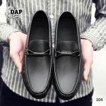 รองเท้าหนังผู้ชายแฟชั่น (สีดำ)