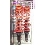 (Wave 110 i) โช้คอัพหลังคู่ YSS รุ่น DTG (ไฮบริด) สำหรับ Honda Wave 110 i,CZ-i สี ดำ/แดง