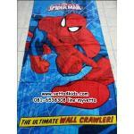 ผ้าขนหนูเช็ดตัว ขนาด 80 x 150 cm เนื้อผ้าฝ้าย ลายการ์ตูนสไปเดอร์แมน (Spiderman)