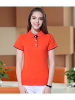 สินค้าพรีออเดอร์!!! เสื้อโปโลสีพื้น สำหรับผู้หญฺิง