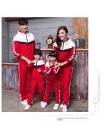 สินค้าพรีออเดอร์!!! ชุดวอร์มแพคเก็ตครอบครัว WEI สีแดง สำหรับเด็ก ผู้หญฺิง และผู้ชาย