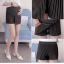 กางเกงกระโปรงขาสั้นคนท้องลายทาง มีสายปรับที่เอว - SP1708 thumbnail 3