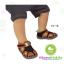 ถุงเท้าเด็กแบบเว้าด้านหลังเท้า มีพื้นกันลื่น ขนาด 9-12cm เซต 3 คู่ thumbnail 3