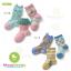 ถุงเท้ายาวเด็กลายสีสัน มีพื้นกันลื่น 003 ขนาด 9~12cm & 12~15cm เซต 3 คู่ thumbnail 1