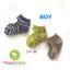 ถุงเท้าเด็กแบบเว้าด้านหลังเท้า มีพื้นกันลื่น ขนาด 9-12cm เซต 3 คู่ thumbnail 5