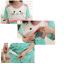 ชุดนอนคนท้อง เสื้อและกางเกง รูปหน้าแมวลายกลมจุด เปิดให้นมได้ - PJ0014 thumbnail 6