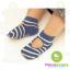 ถุงเท้าเด็กแบบเว้าด้านหลังเท้า มีพื้นกันลื่น ขนาด 9-12cm เซต 3 คู่ thumbnail 2