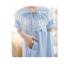 ชุดนอนกระโปรงคนท้องชายระบาย ประดับลูกไม้หน้าอก เปิดให้นมได้ - PJ0004 thumbnail 4