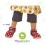 ถุงเท้าเด็กแบบเว้าด้านหลังเท้า มีพื้นกันลื่น ขนาด 9-12cm เซต 3 คู่ thumbnail 4