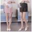 กางเกงกระโปรงขาสั้นคนท้องลายทาง มีสายปรับที่เอว - SP1708 thumbnail 1
