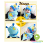 หมวกเด็กผ้ายืด และผ้าพันคอเด็ก ลายหนอนน้อย thumbnail 4