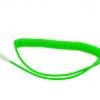 สายชาร์จ สำหรับMicro USB แบบสายเกียวยืดได้ สีเขียวอ่อน