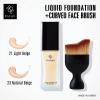 Eity Eight Liquid Founadation SPF PA+++ รองพื้น และ แปรง Eity Eight Curved Face Brush เซ็ตรองพื้น+แปรง