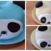 Y001-4**พร้อมส่ง** (ปลีก+ส่ง) หมวก สาน เด็ก ลายแพนด้า แฟชั่นเกาหหลี งานนำเข้า(Made in China)