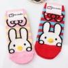 A024**พร้อมส่ง**(ปลีก+ส่ง) ถุงเท้าแฟชั่นเกาหลี จมูกกระต่าย 3 มิติ มี 2 สี ชมพู แดง เนื้อดี งานนำเข้า( Made in Korea)