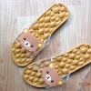 K020-ฺฺBR2**พร้อมส่ง** (ปลีก+ส่ง) รองเท้านวดสปา เพื่อสุขภาพ ปุ่มใหญ่สลับเล็ก (การ์ตูน) สีน้ำตาล ลายหมีคุมะ