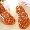 K020-ฺBR **พร้อมส่ง** (ปลีก+ส่ง) รองเท้านวดสปา เพื่อสุขภาพ ปุ่มใหญ่สลับเล็ก (การ์ตูน) สีน้ำตาล ส่งคู่ละ 150 บ.