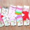 U040-15 **พร้อมส่ง** (ปลีก+ส่ง) ถุงเท้าเด็ก หญิงวัย 5-7 ปี COCO & BU (ขนาด 18-20 cm.) ไม่มีกันลื่น เนื้อดี งานนำเข้า ( Made in China)