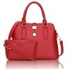 พร้อมส่ง กระเป๋าถือและสะพายข้าง เซ็ต 2 ใบ แฟชั่นเกาหลี Sunny-720 แท้ สีแดง 1 ใบ