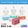 ที่ชาร์จในรถ 4 USB Travel Charger MAX 3.4A ลดเหลือ 80 บาท ปกติ 195 บาท