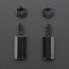 Brass M2.5 Standoffs for Pi HATs - Black Plated - Pack of 2 (Adafruit)