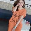 เสื้อยืดตัวยาว ผ้านุ่ม Size M ลาย Bike สีส้ม