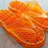 K013-OR **พร้อมส่ง** (ปลีก+ส่ง) รองเท้านวดสปา เพื่อสุขภาพ ปุ่มเล็ก (ใส) หูหนีบ สีส้ม ส่งคู่ละ 80 บ.