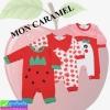 ชุดเด็กอ่อน MON CARAMEL แอปเปิ้ลสตอเบอรี่ เซ็ท 3 ตัว ราคา 335 บาท ปกติ 830 บาท
