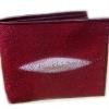 กระเป๋าสตางค์ปลากระเบน 20 พับสีแดง Line id : 0853457150
