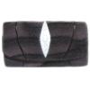 กระเป๋าสตางค์ปลากระเบน แบบ 3 พับ เม็ดใหญ่ ลวดลายคลื่นน้ำ สีม่วงสลับกับสีดำ Line id : 0853457150