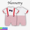 ชุด เด็กอ่อน Nannetty ทักซิโด้แดง ราคา 155 บาท ปกติ 450 บาท