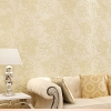 วอลเปเปอร์ 3มิติ ลายดอกบัวคลาสสิก ครีมเหลือง(550202) Wall-WE11