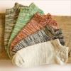 S579 **พร้อมส่ง** (ปลีก+ส่ง) ถุงเท้าแฟชั่น ใส่ได้ทั้งหญิง+ชาย ข้อเว้าใต้ตาตุ่ม คละ 5 สี เนื้อดี งานนำเข้า มี 10 คู่ต่อแพ็ค (Made in China)