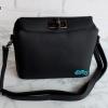พร้อมส่ง DB-3223 สีดำ กระเป๋าแฟชั่นหนังลิ้นจี่ สไตล์ Hermes Toolbox mini