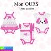 ชุด เด็กอ่อน Mon OURS Heart pattern เซ็ท 3 ตัว ราคา 240 บาท ปกติ 720 บาท